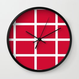 abstraction from the flag of denmark Wall Clock
