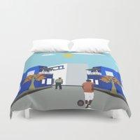 football Duvet Covers featuring Street Football  by Design4u Studio