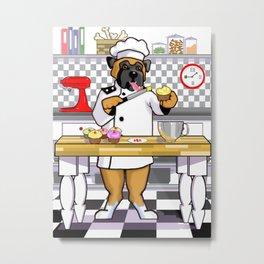 Chef Dog Series: Chef Boxer Metal Print