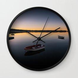 Sunrise over Knysna Lagoon in Western Cape, South Africa Wall Clock
