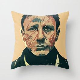 Daniel Craig Throw Pillow