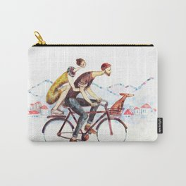 Pair of cyclists Carry-All Pouch