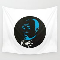 karl Wall Tapestries featuring Karl Pilkington  by All Surfaces Design