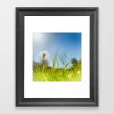 Blue & Green & Dandy Framed Art Print
