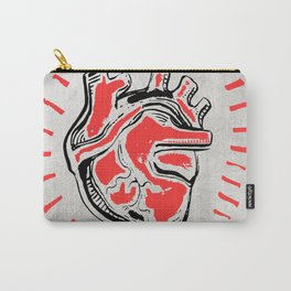 Human heart ink hand drawn illustration Carry-All Pouch