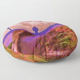 Sand Dunes (Digital Art) Floor Pillow