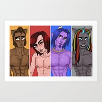 monster high Art Prints featuring Monster High Boys Print by Maxey McSwain