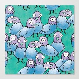 Pigeon Crowd Canvas Print