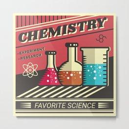 Chemistry Metal Print