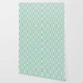 Green & White Pattern Wallpaper
