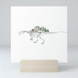 Spino-peony-saurus Mini Art Print