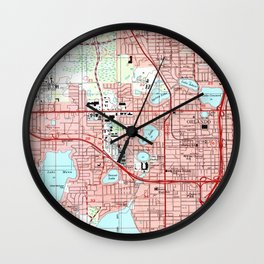Orlando Florida Map (1995) Wall Clock