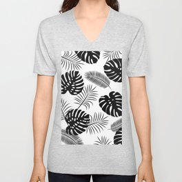 TROPICAL LEAVES 7 Unisex V-Neck