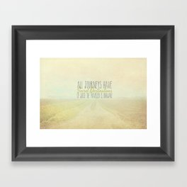 All Journeys Have Secret Destinations  Framed Art Print