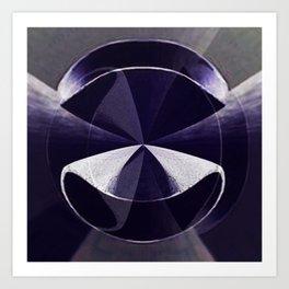 3D abstract digital art Art Print