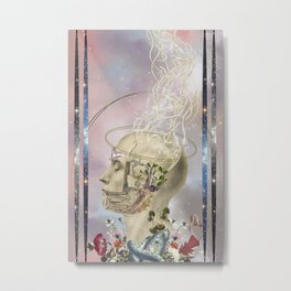 awakening - anatomical collage art by Bedelgeuse Metal Print