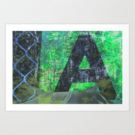 A is for Adventure Art Print