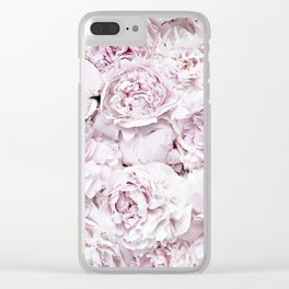 BED OF FLOWERS - PEONY PINK Clear iPhone Case