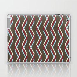 Mistlesnow Interweaving Zigzags on Brown Laptop & iPad Skin