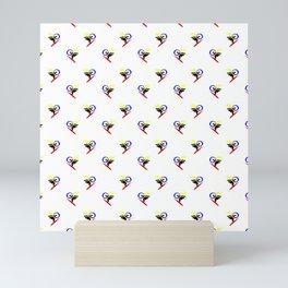minimalistic watercolor scribble seamless pattern std3 Mini Art Print