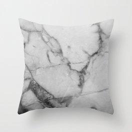 White Howlite Throw Pillow