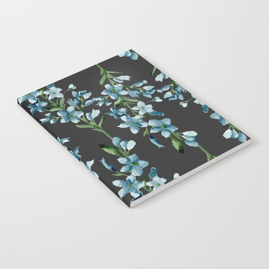 Blue branches pattern Notebook