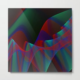 Waves and flow, fractal abstract Metal Print