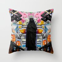 mother Throw Pillows featuring Mother? by ItzelXoco