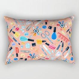 Fingernail Equipment - Blush Rectangular Pillow