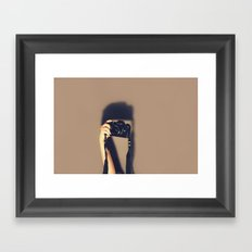 Taking pictures of you Framed Art Print