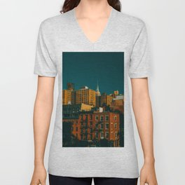 New York City Apartments (Color) Unisex V-Neck