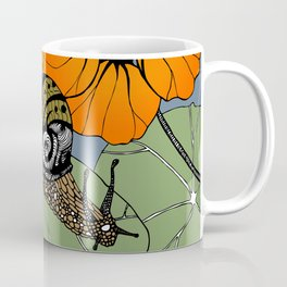 Snail on Nasturtiums Coffee Mug