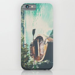 A row boat on Lake Bled, Slovenia iPhone Case