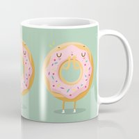 donut Mugs featuring Donut by Maria Jose Da Luz
