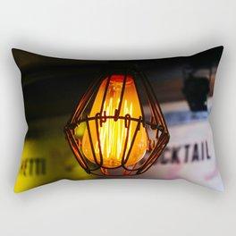 Edison Light Bulb in a Bar in Thailand Rectangular Pillow