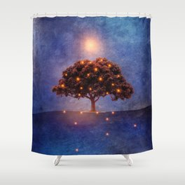 Energy & lights Shower Curtain