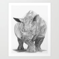 Rhino - The Gentle Giant Art Print