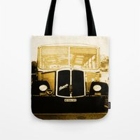 car Tote Bags featuring Car by Mikhaelle A.