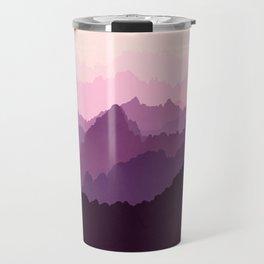 Mountains in Pink Fog Travel Mug