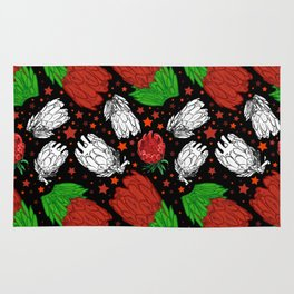 Protea Pattern - Lovely Australian Native Florals Rug