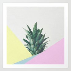 Pineapple Dip V Art Print
