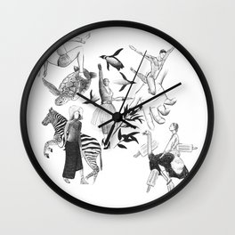 Ink Thoughts Two Wall Clock