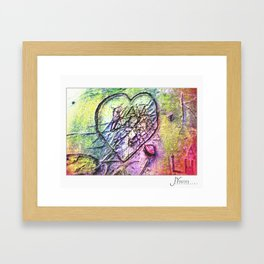 The Love Conflict Framed Art Print