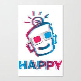3D HAPPY Canvas Print
