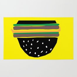 fastfood hamburger Rug