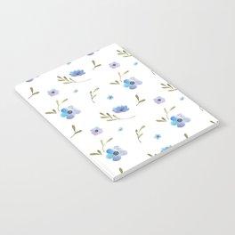 Blue watercolor flowers #2 Notebook