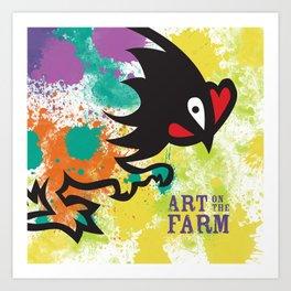 Splatter Art on the Farm Art Print