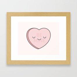 Pink Sweet Candy Heart Framed Art Print