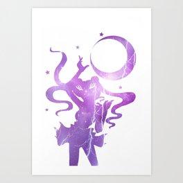 Sailor Moon - Purple Lightning Moon Art Print