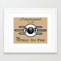 fallout 3 Framed Art Prints featuring Minimalist Fallout 3  by Mustachepotamus